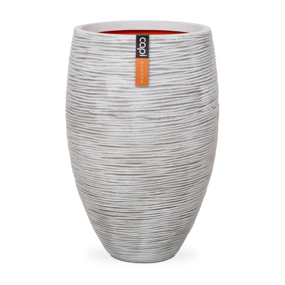 Vaas elegant deluxe rib NL 56x86 - ivoor