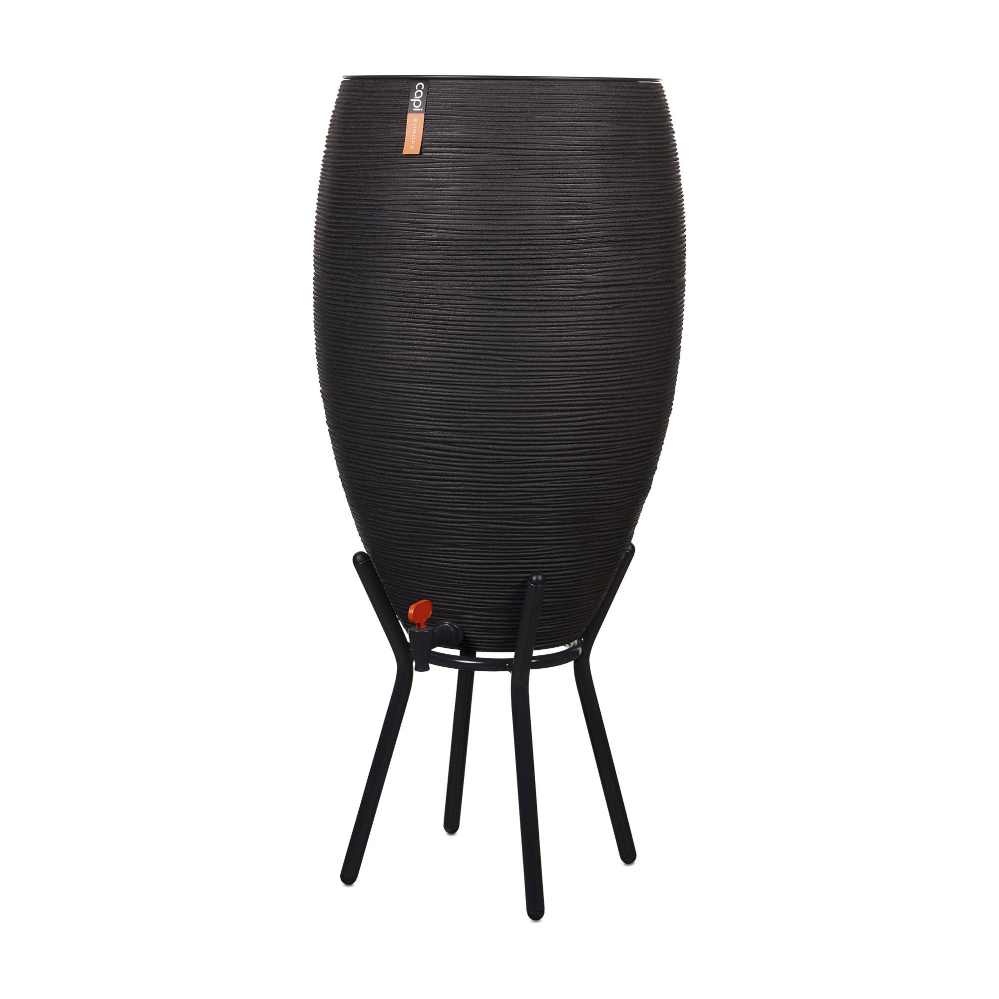 Regenton Rib NL 56x123 Zwart