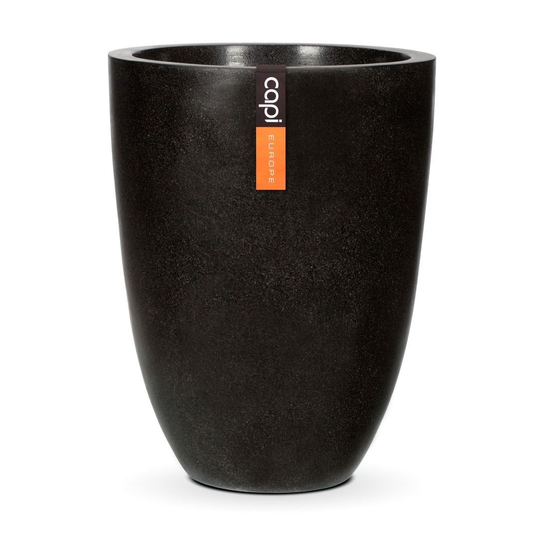 Bloempot vaas laag III zwart