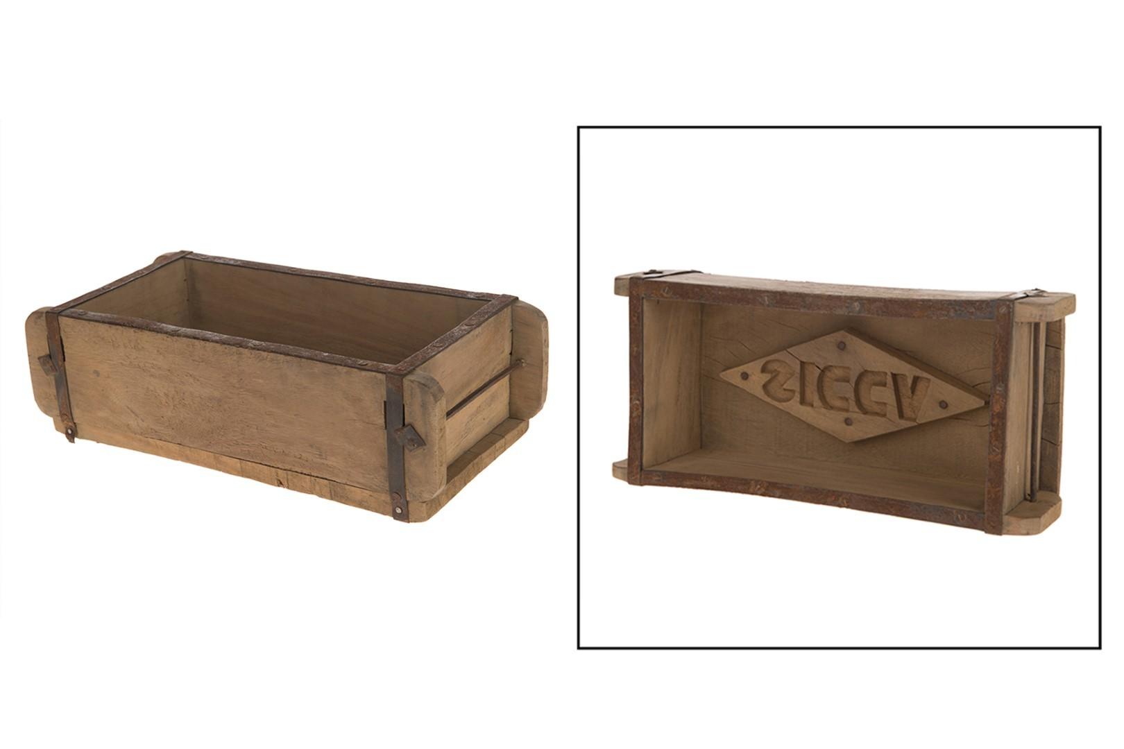 Baksteenvorm hout l32b15h10 cm naturel