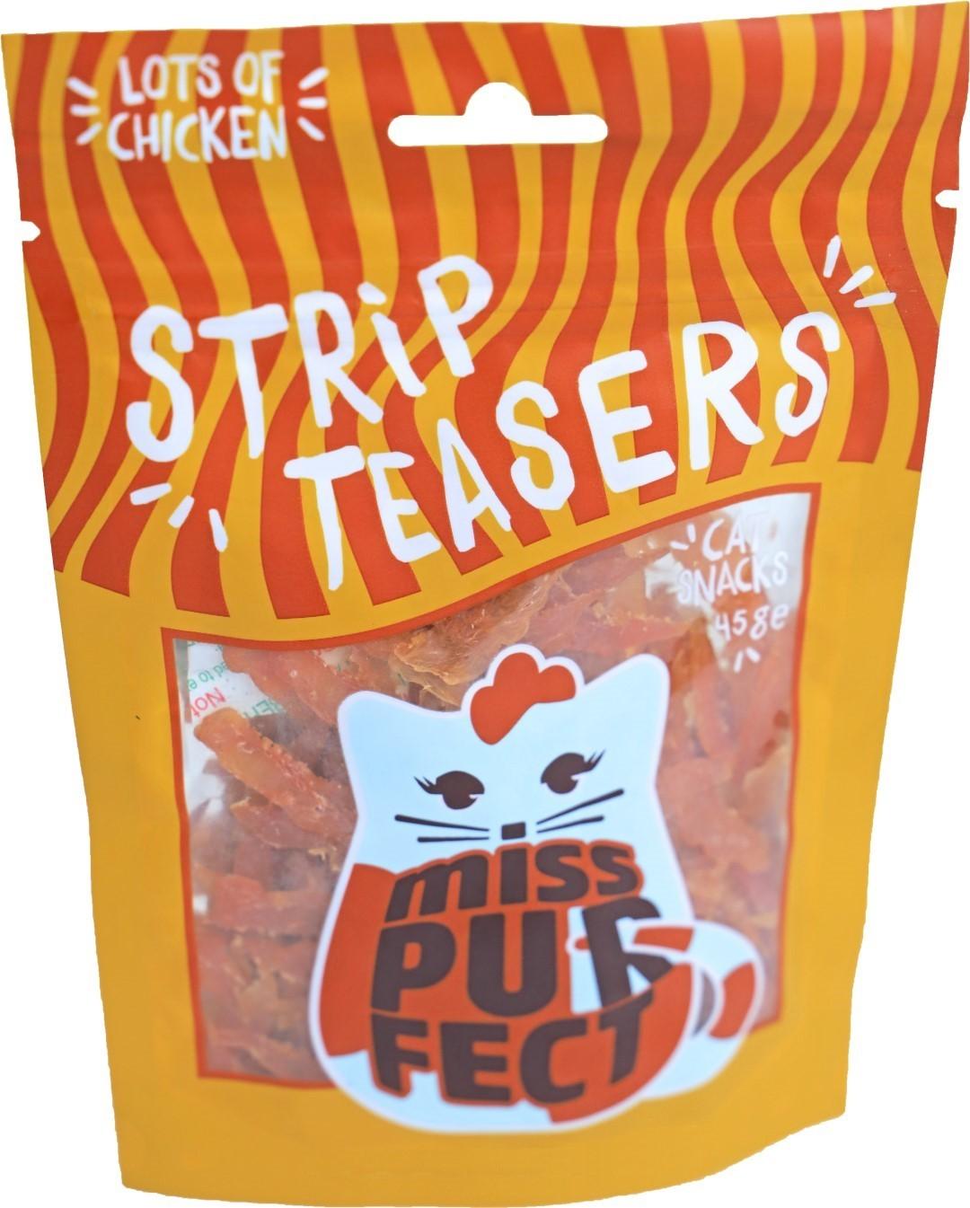 Miss Purfect cat snacks strip teasers 45 gram