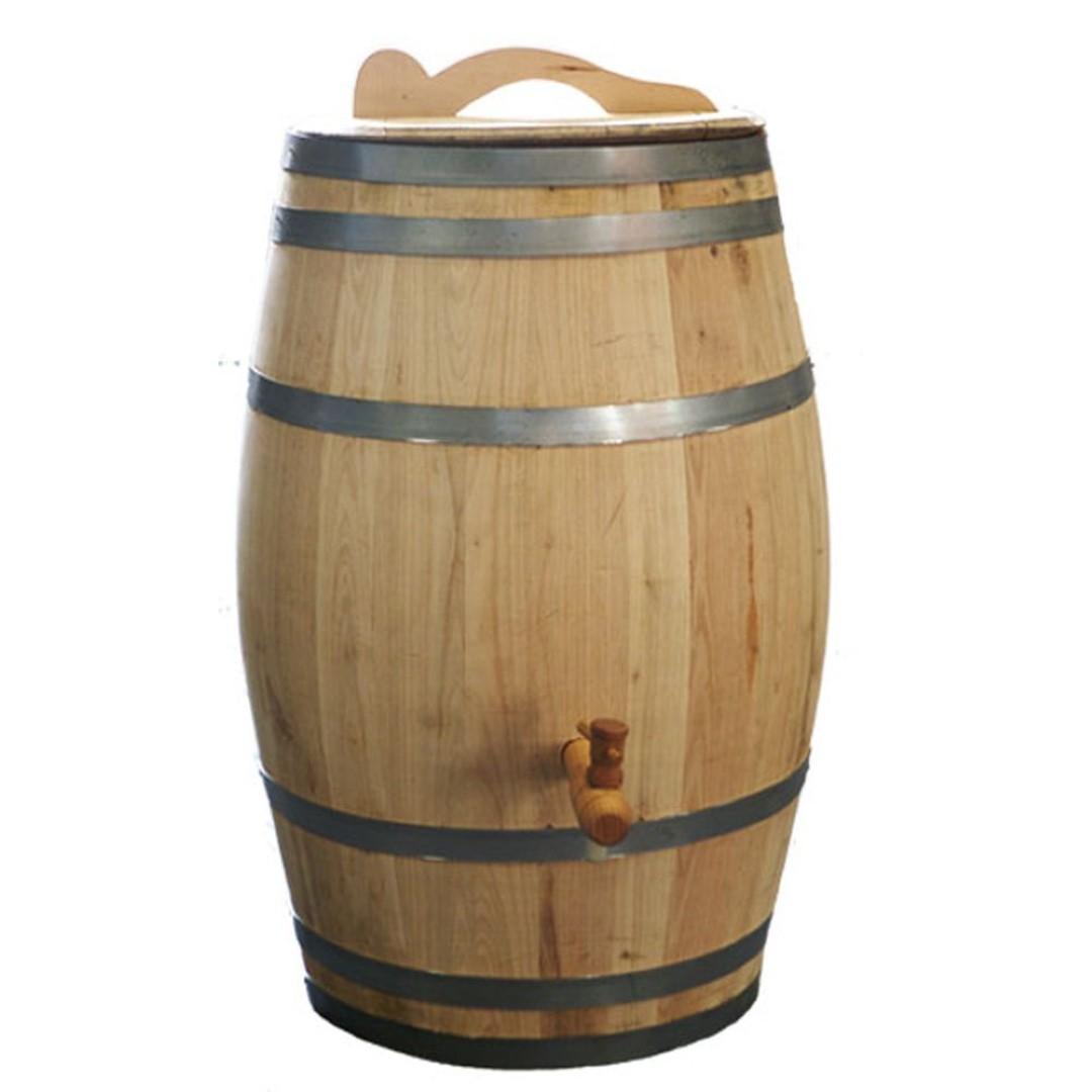 Regenton 100 liter kastanje kraan / handvat 78 cm