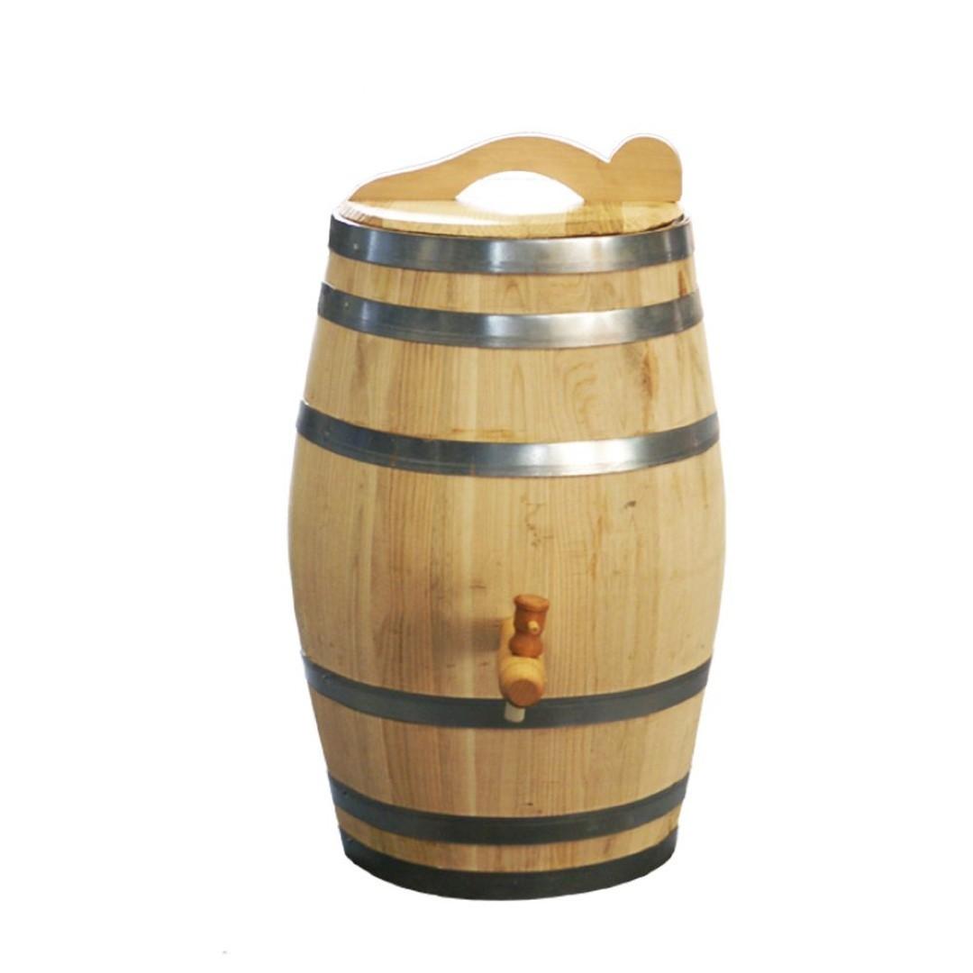 Regenton 50 liter kastanje kraan/handvat 60 cm