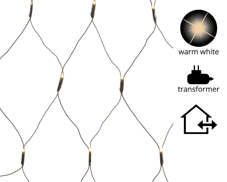 LED netverlichting buiten/1x4.8m-360L/zwart/warm wit