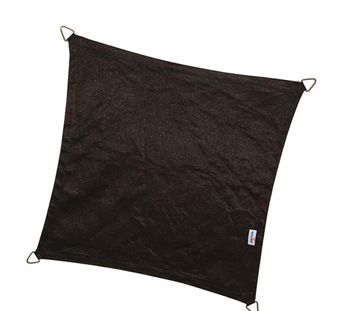 Vierkant 5,0 x 5,0 x 5,0 x 5,0m, Zwart