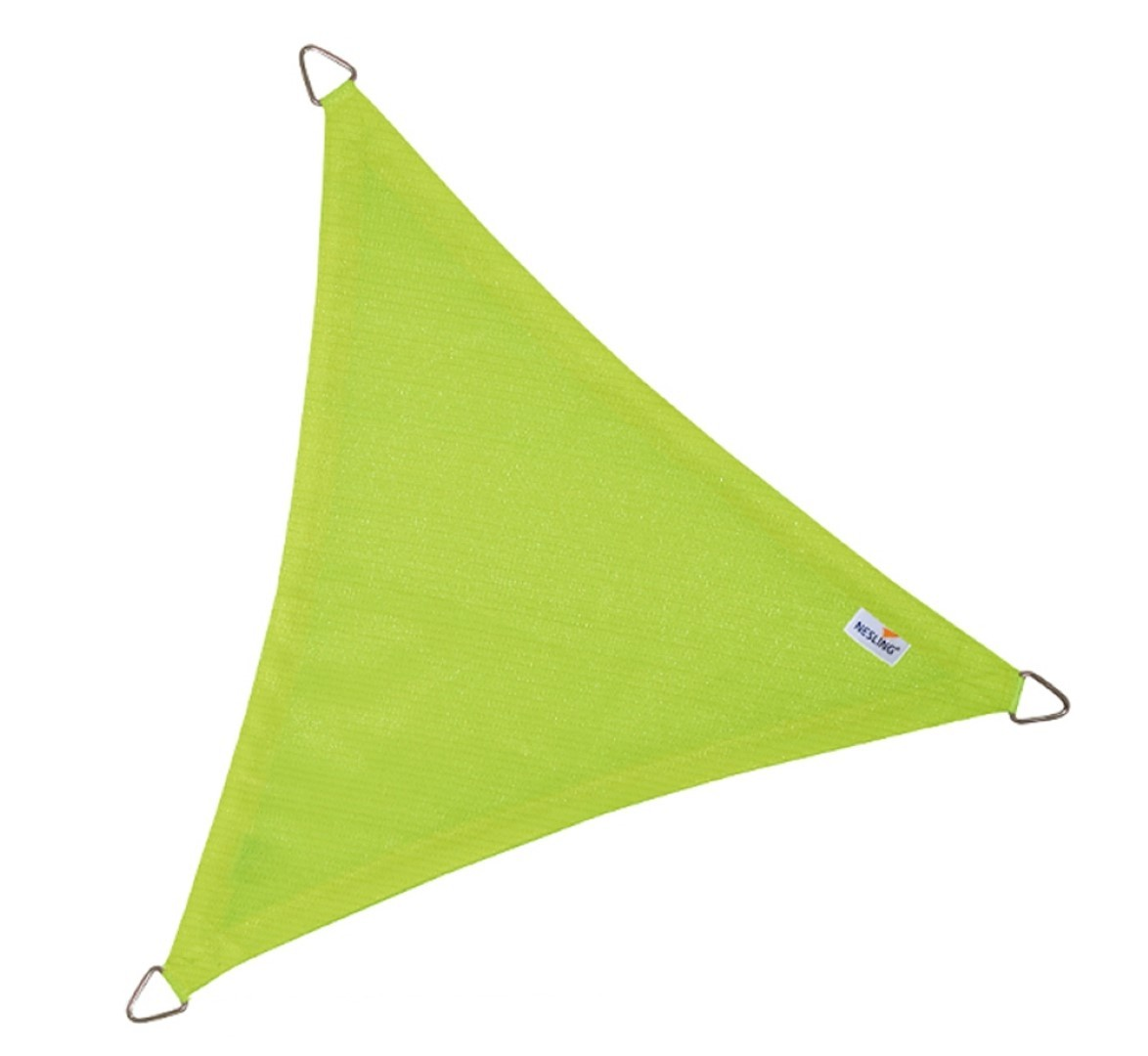 Driehoek 5,0 x 5,0 x 5,0m, Lime Groen