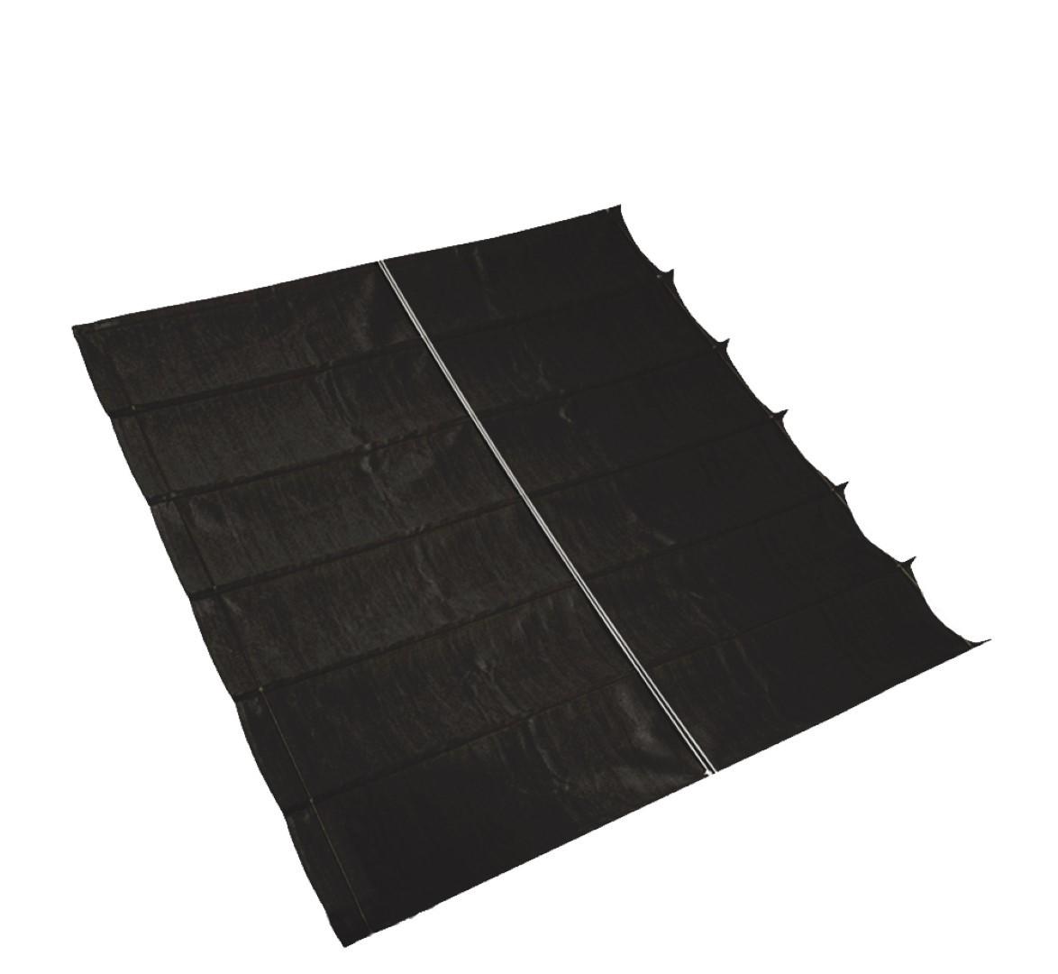 Harmonica schaduwdoek, B 2,9m L 5,0m, Zwart