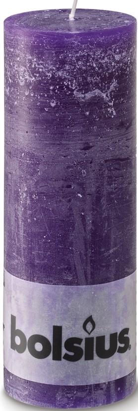 Stompkaars paars Rustiek 190 x 68 mm