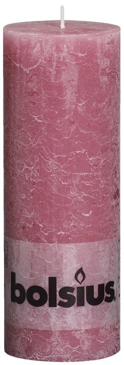 Kaars old pink Rustiek 190 x 68 mm