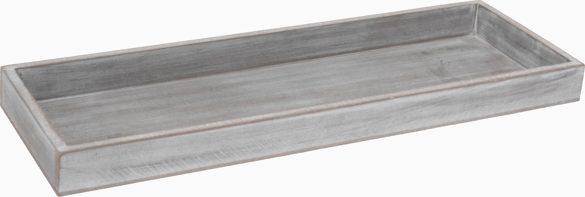 5 stuks! Plateau 14x40cm antiek grijs