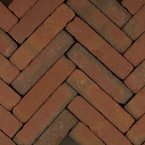 60 stuks! Art brick fabriti rd/br 5x20x6.5 cm