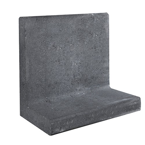 L-element zwart 50x40 voet 30 cm