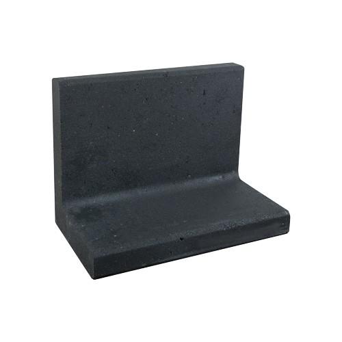 L-element zwart 50x60 voet 40 cm