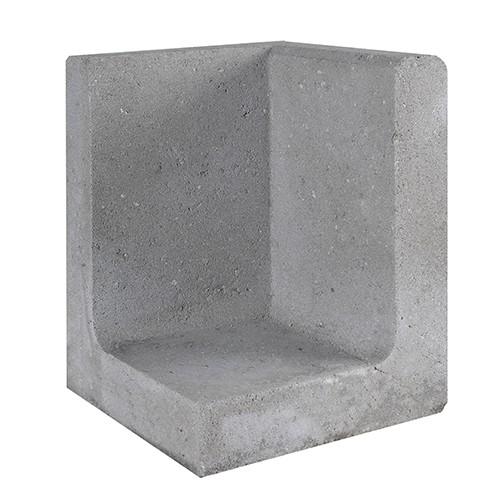 L-element hoek grijs 30x30x40 cm