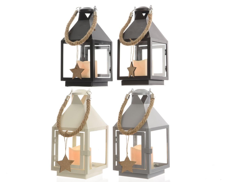 Batterijverlichting lantaarn metaal assorti