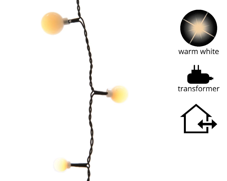 LED cherry lights 3 maten buit/18m-240L/zwart/warm wit