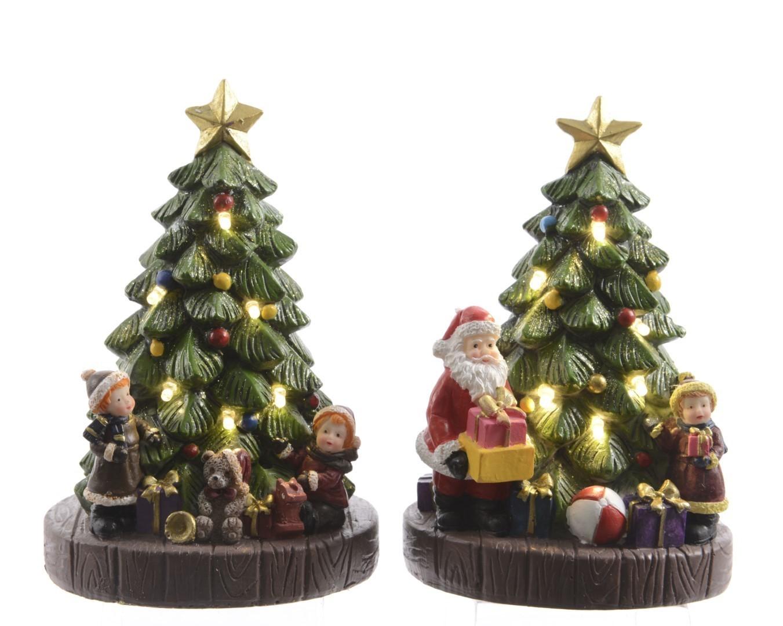 LED kerstboom 2ass op batterij 10x9x16 cm warm wit