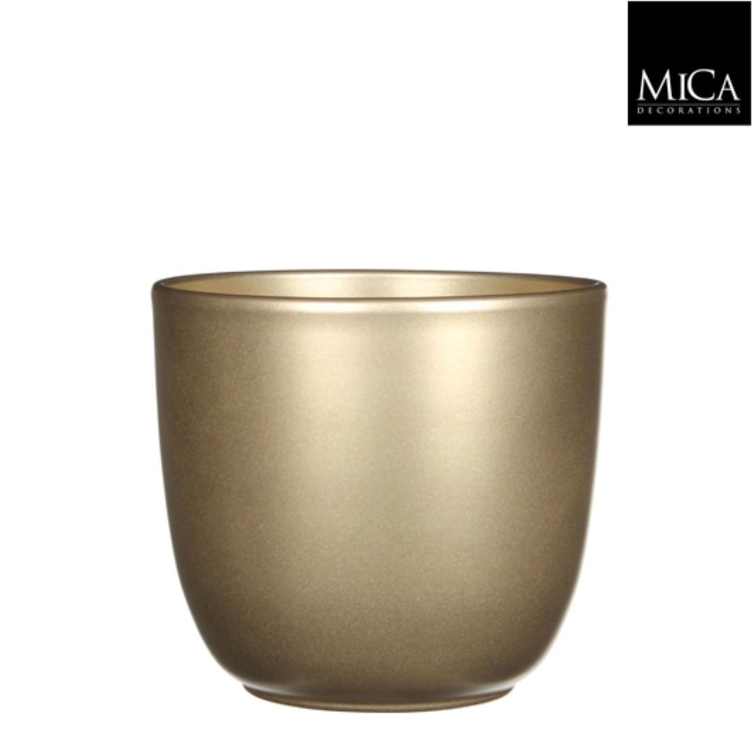 Tusca pot rond goud h14xd14,5 cm Mica Decorations