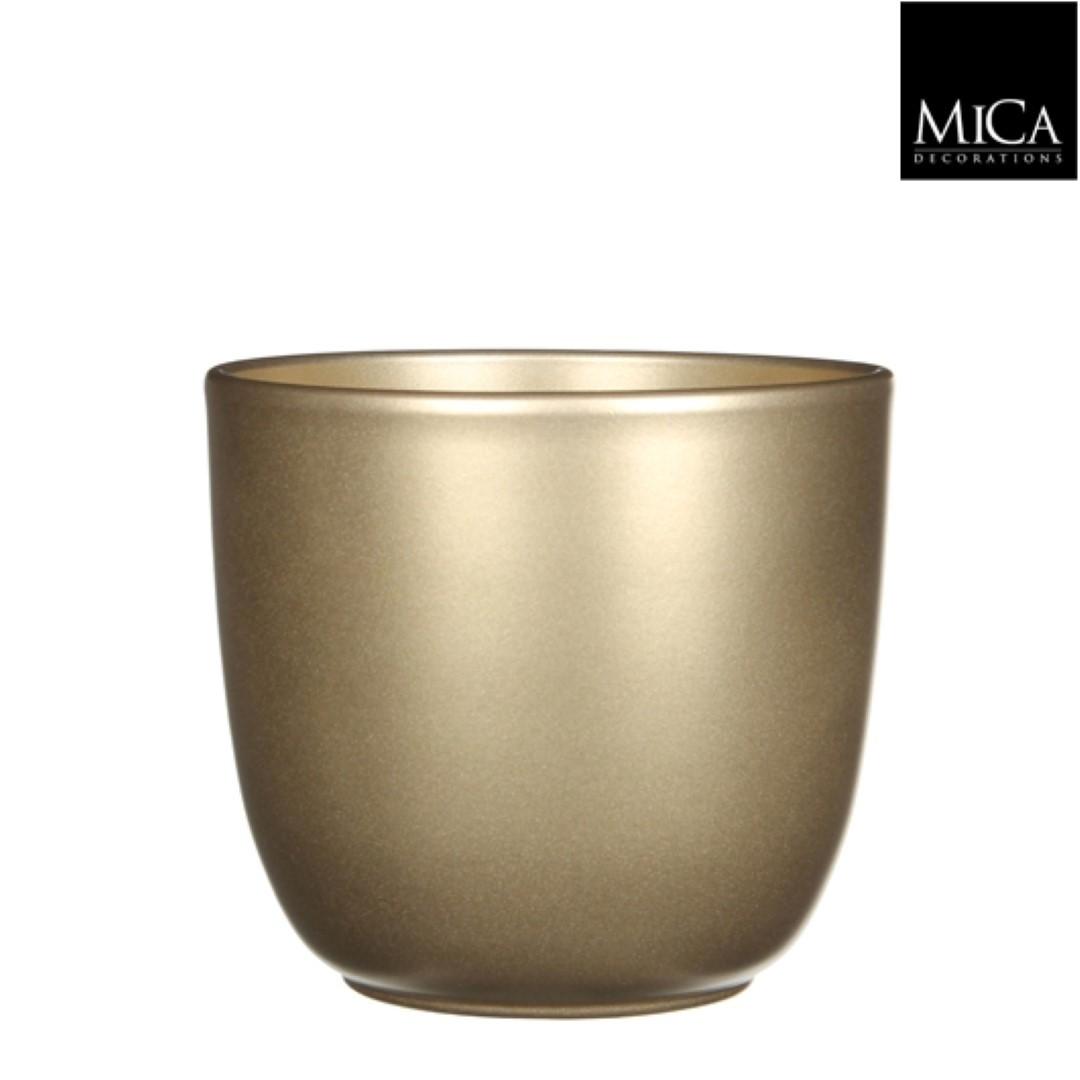 Tusca pot rond goud h16xd17 cm Mica Decorations