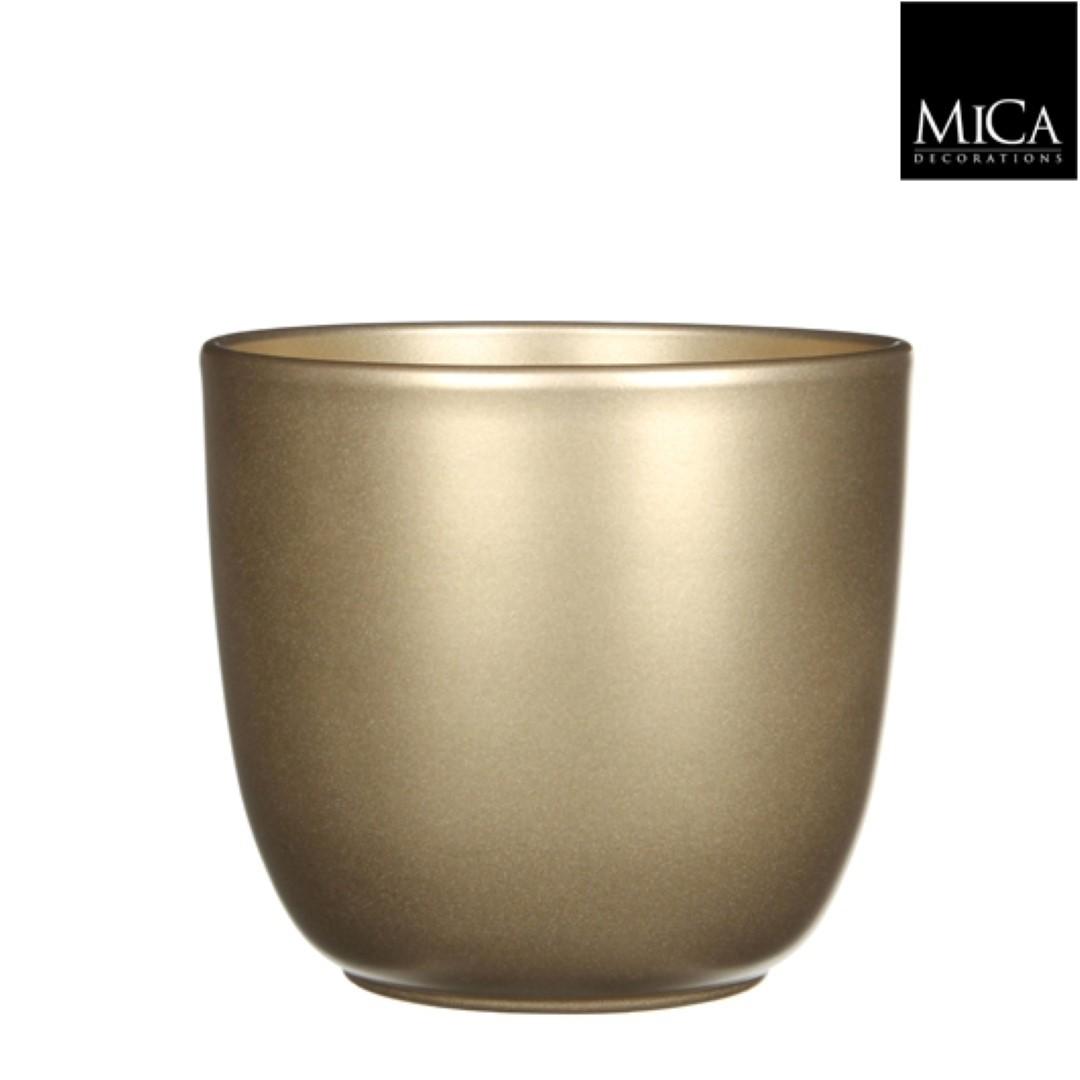 Tusca pot rond goud h18,5xd19,5 cm Mica Decorations
