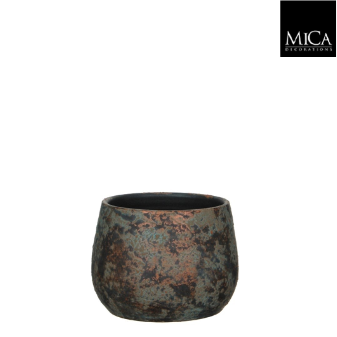 Clemente pot rond koper h15,5xd19,5 cm