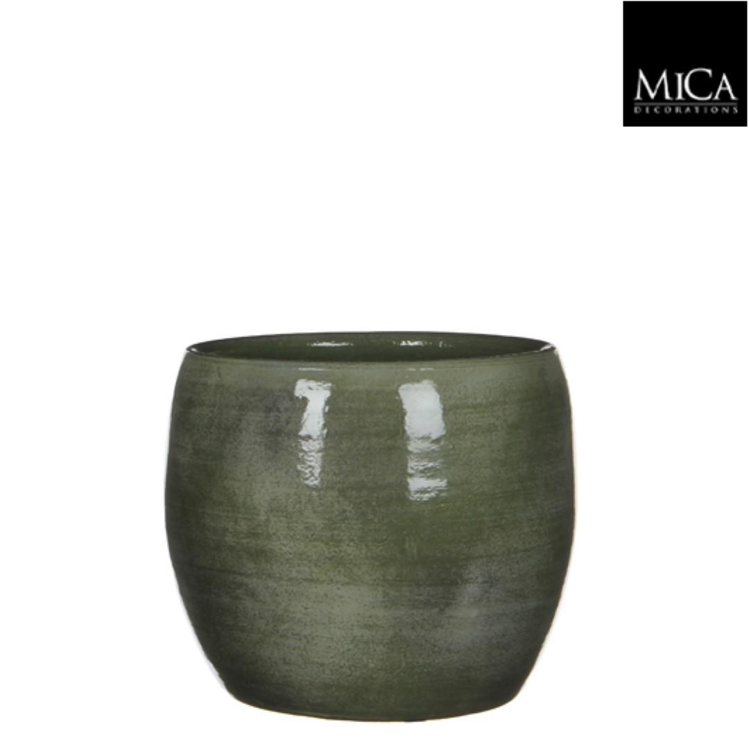 Lester pot rond groen h18xd20 cm Mica Decorations