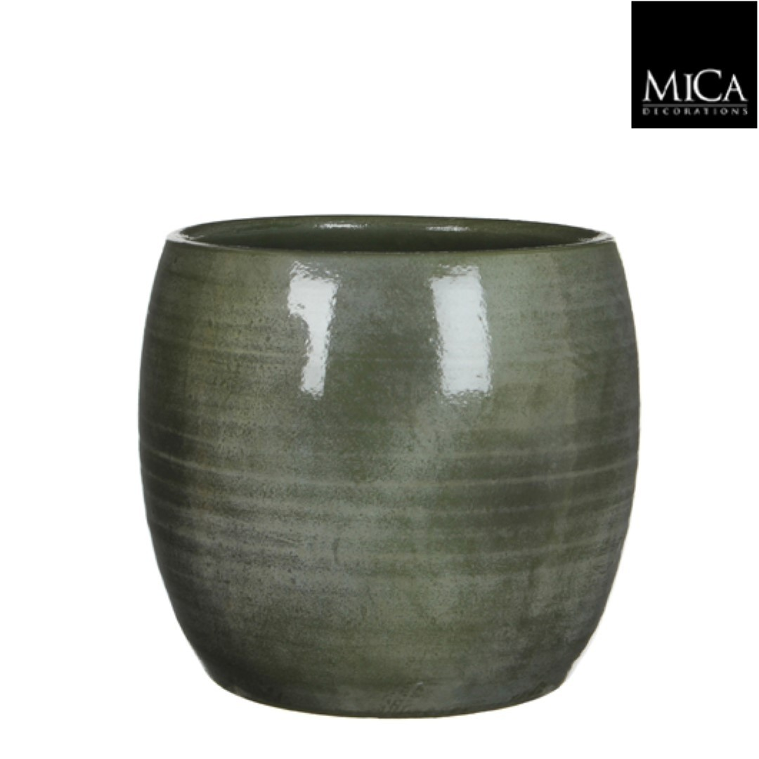 Lester pot rond groen h26xd28 cm Mica Decorations