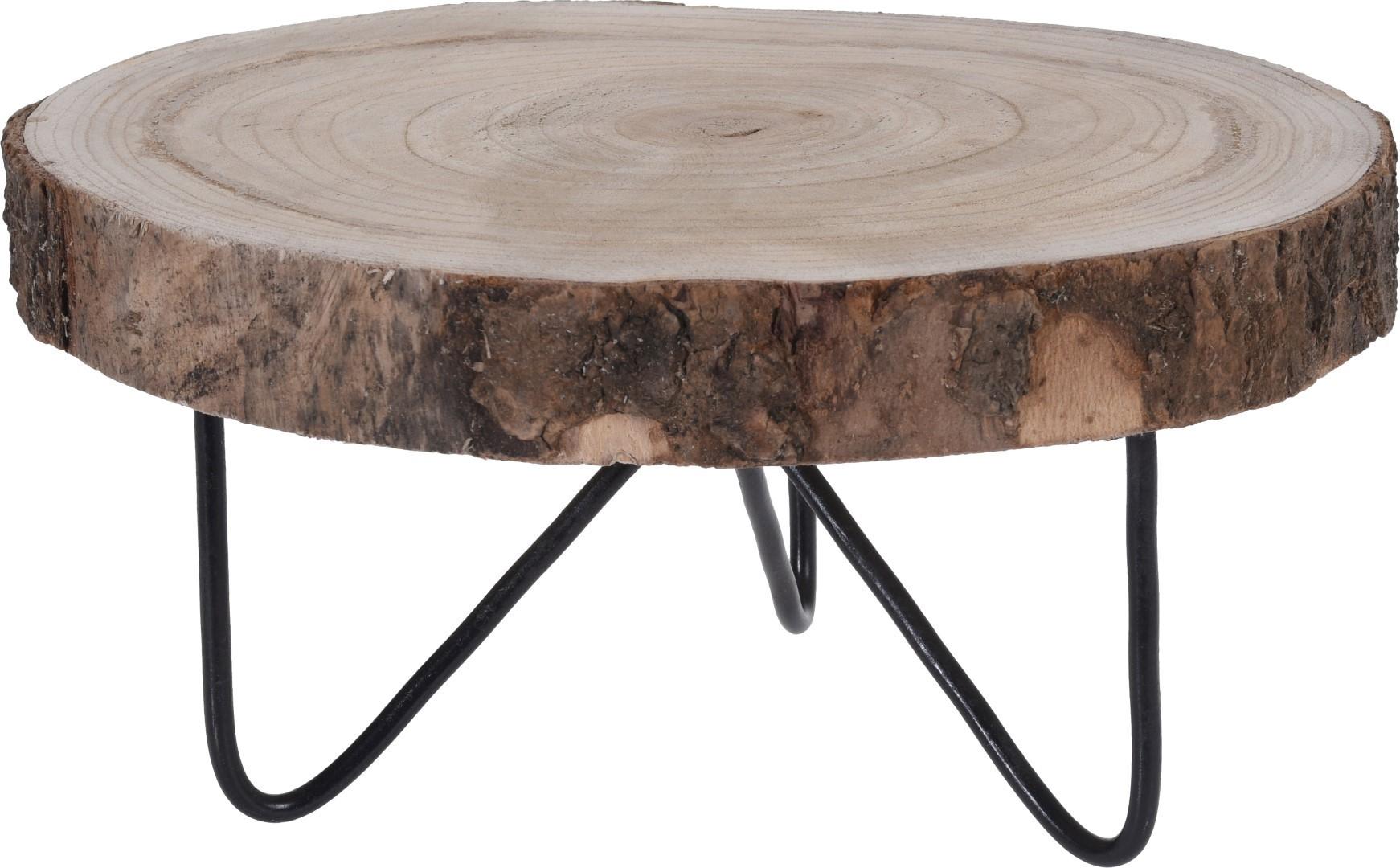 Tafeltje hout rond 30cm