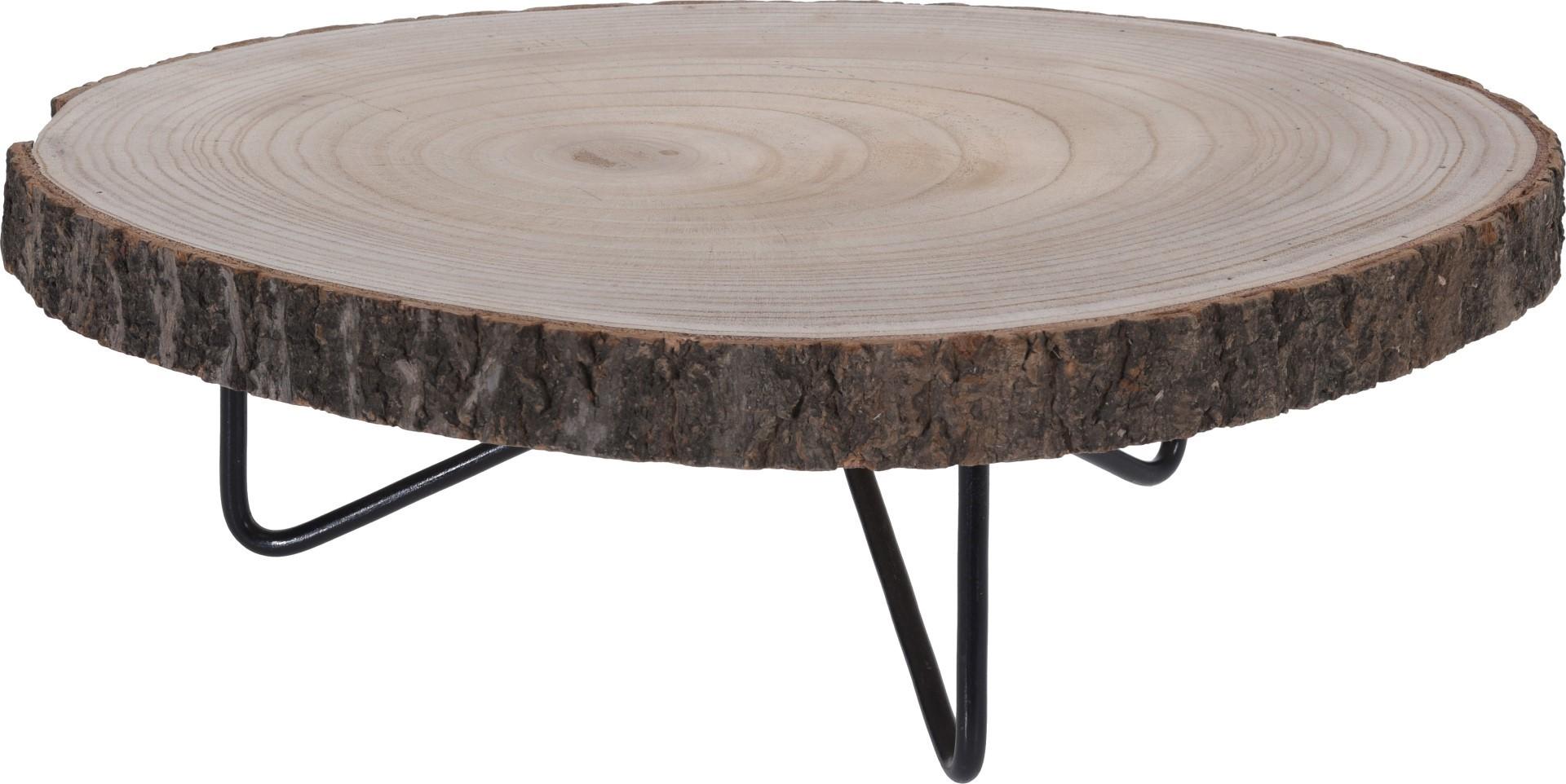 Tafeltje hout rond 40cm