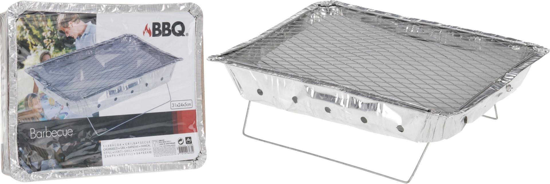 Bbq instant grill met kolen