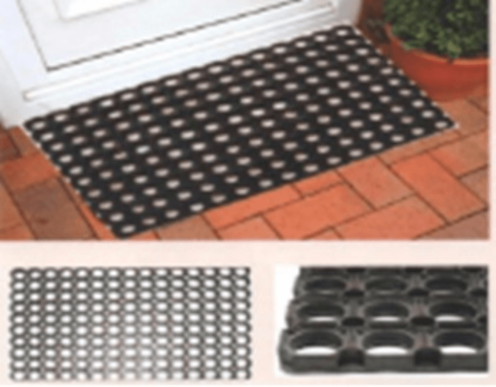 Rubber deurmat 40x60