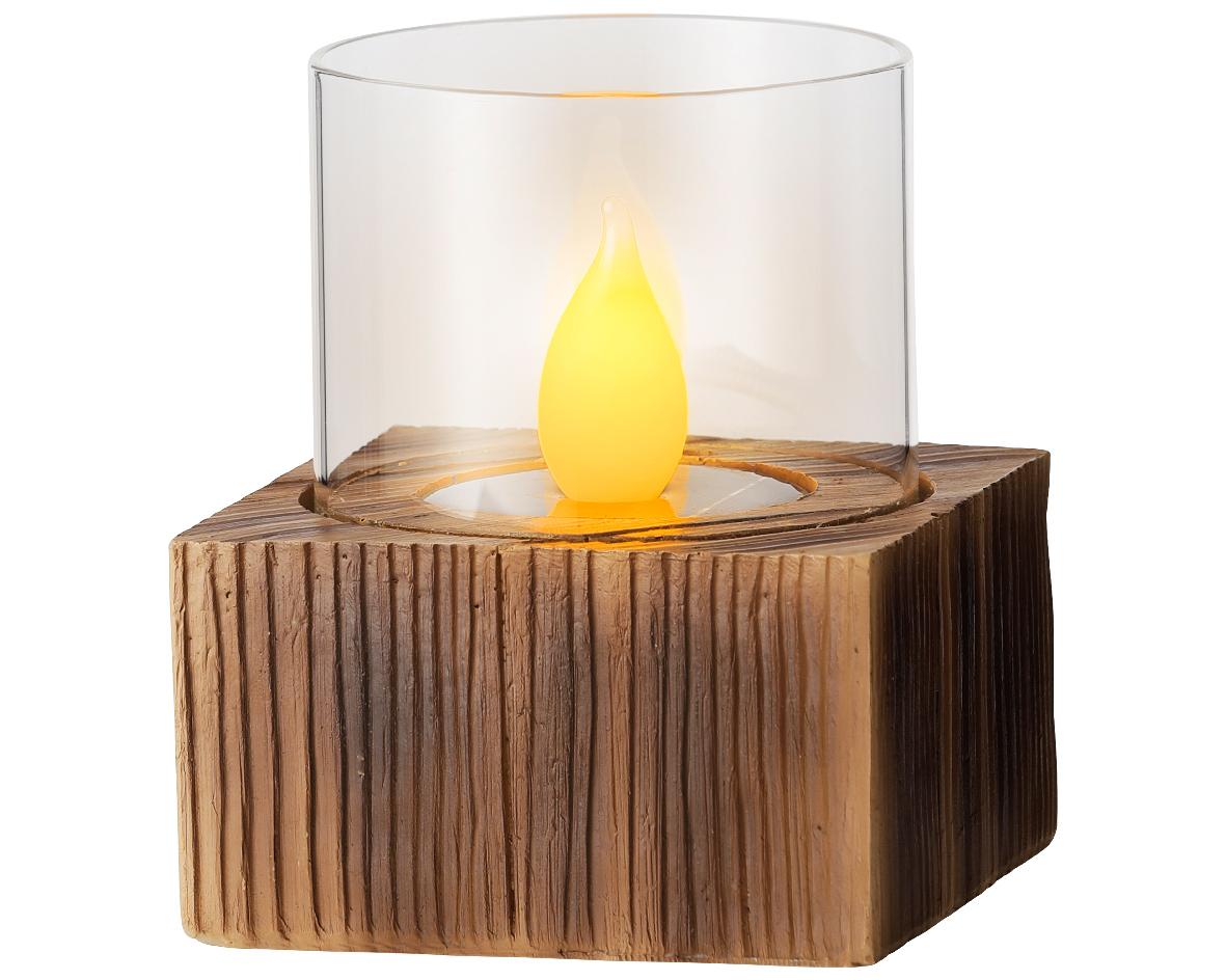 LED solar tafel hout