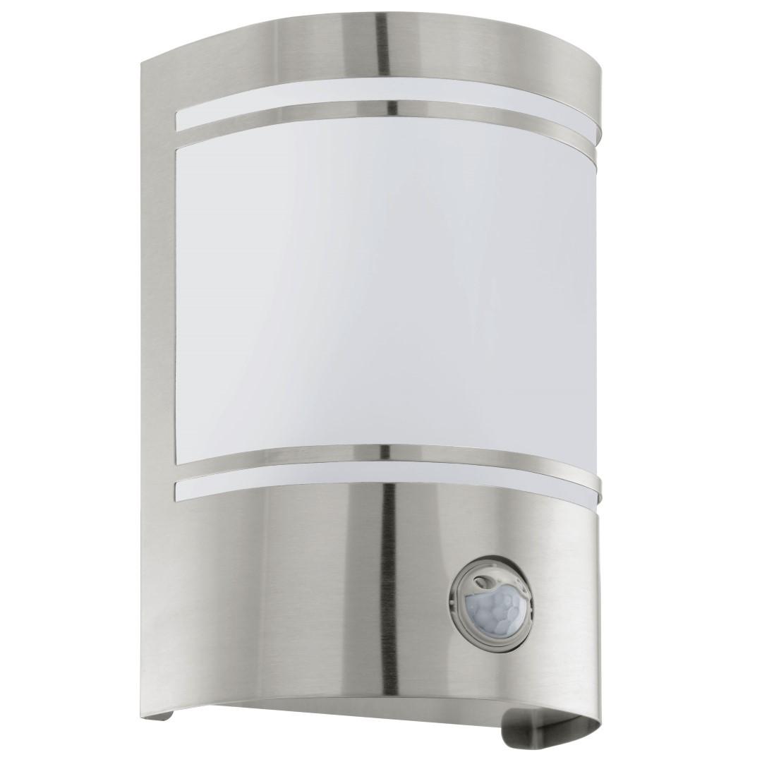 Wandlamp 1 Sensor RVS Gesatineerd Cerno