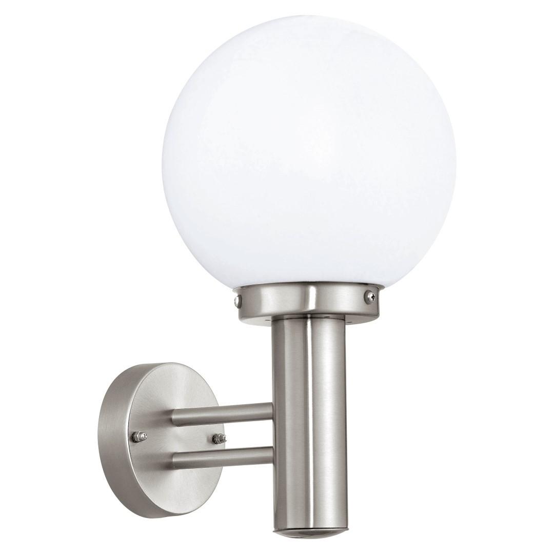 Wandlamp 1 RVS Gesatineerd Nisia