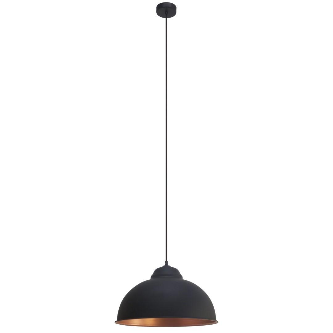 Hanglamp 1 E27 Zwart Koper Truro 2