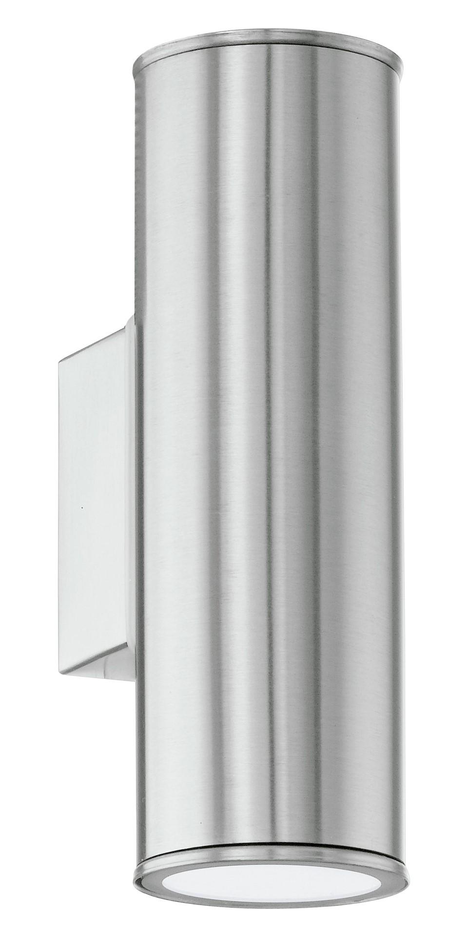 Wandlamp 2 Gu10-LED RVS Riga
