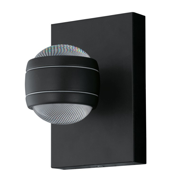 EGLO buiten-LED-wandlamp zwart Sesimba
