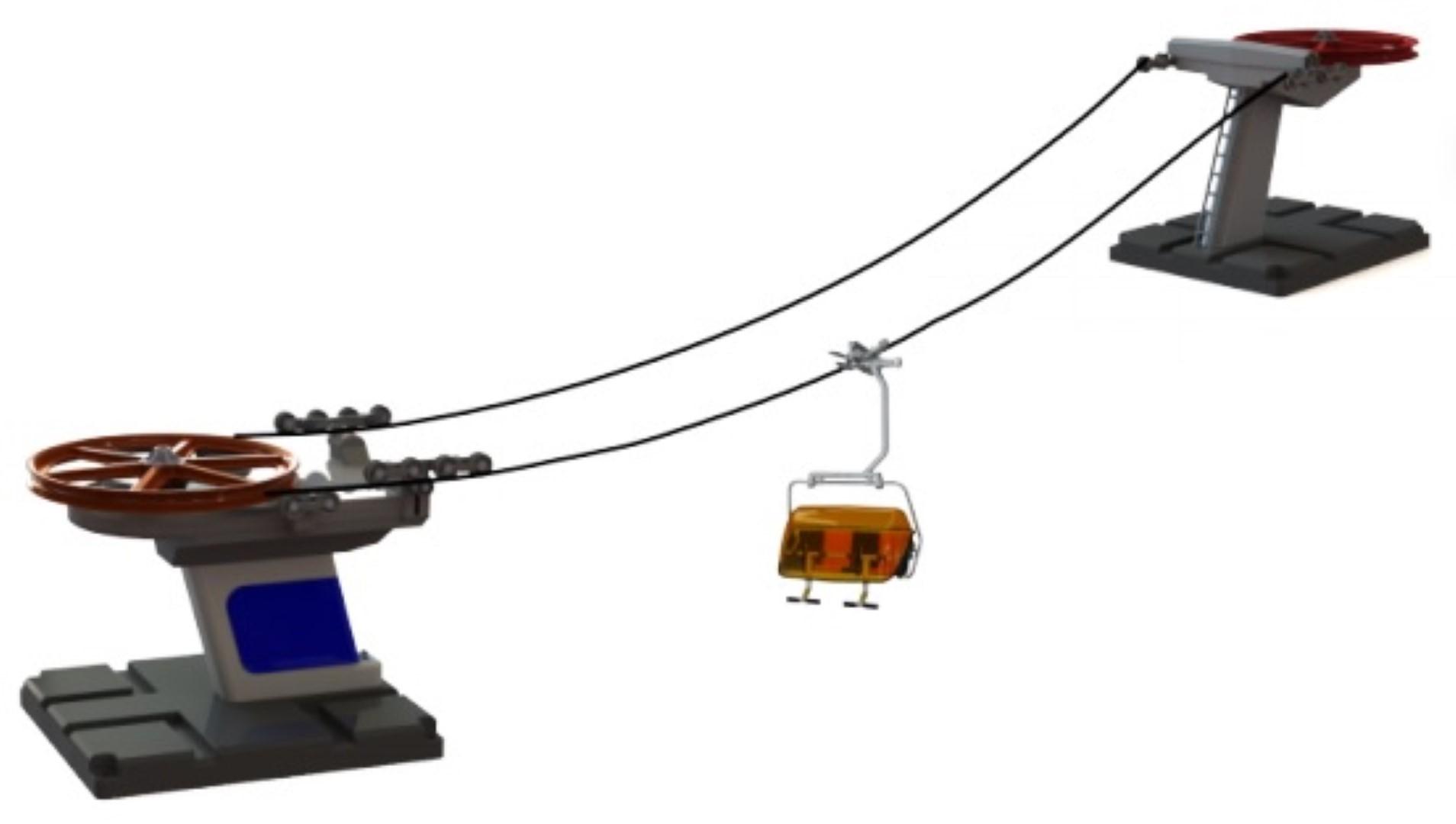 Kabelbaan basic met zetel