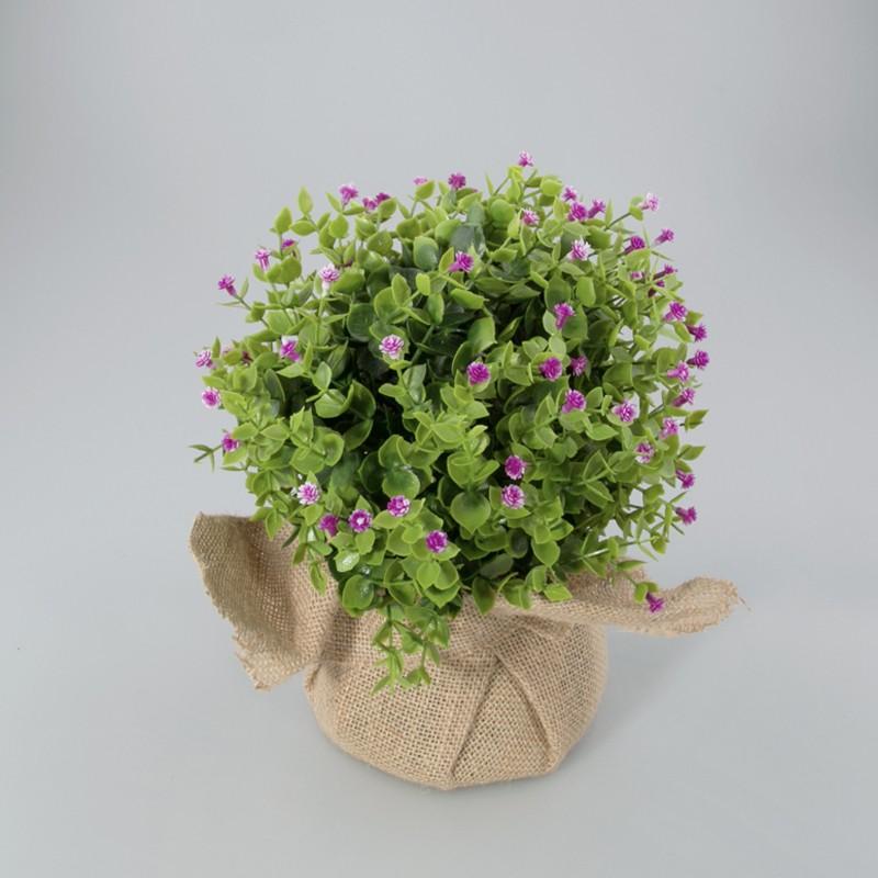 Plantje in jute zak Loes Kunst plantje lavendel