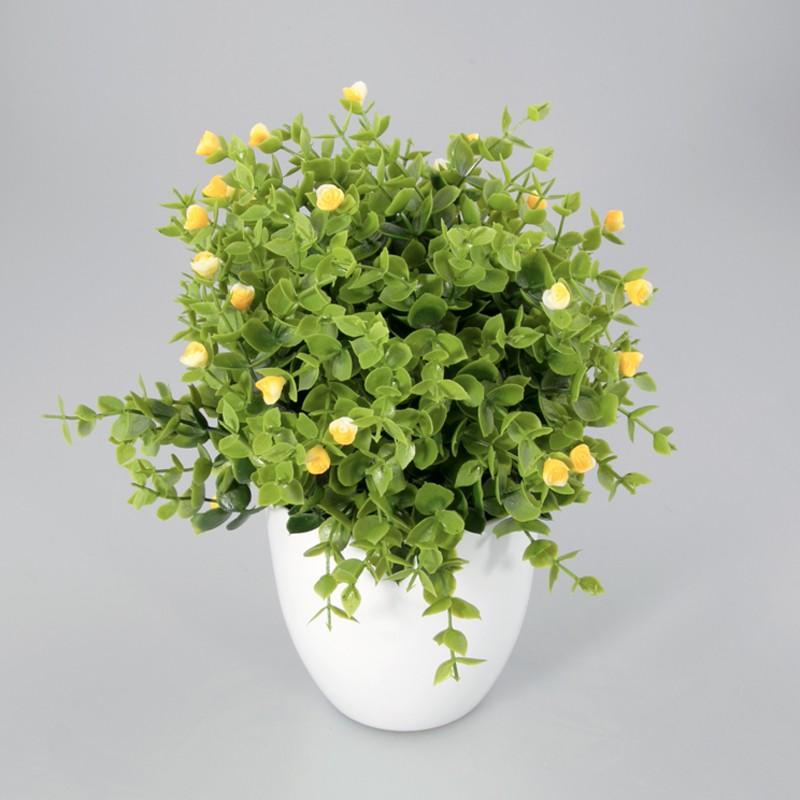 Plantje in kunststof pot Liv geel