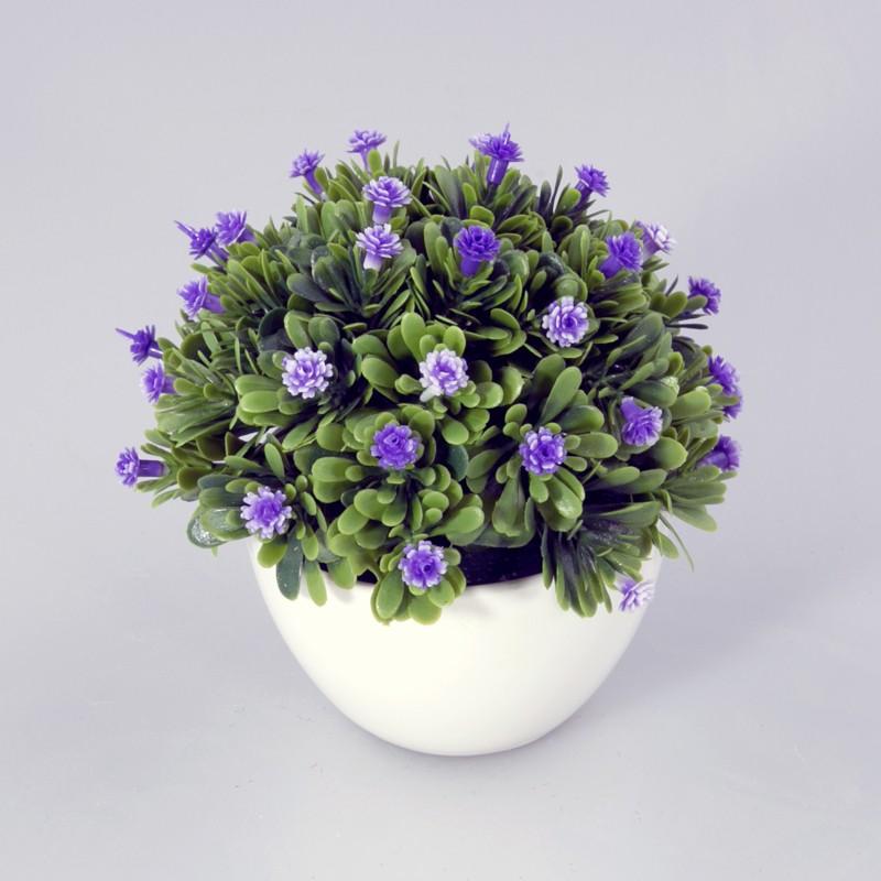 Plantje in kunststof schaal Daisy Kunst plantje lavendel