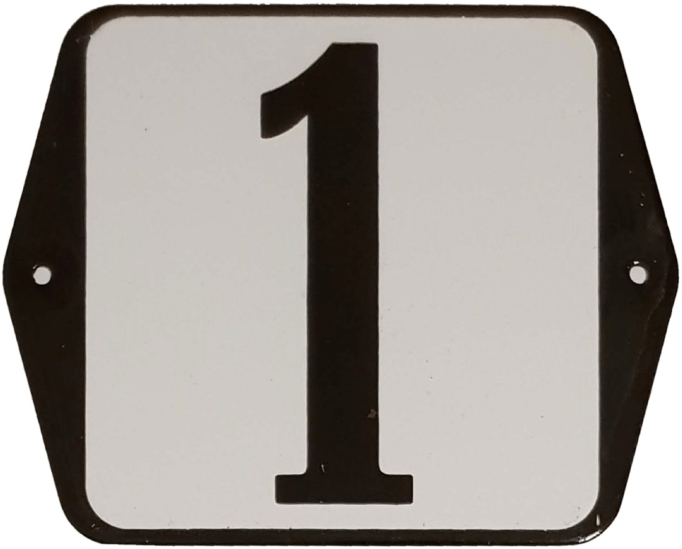 Huisnummer standaard nummer 1
