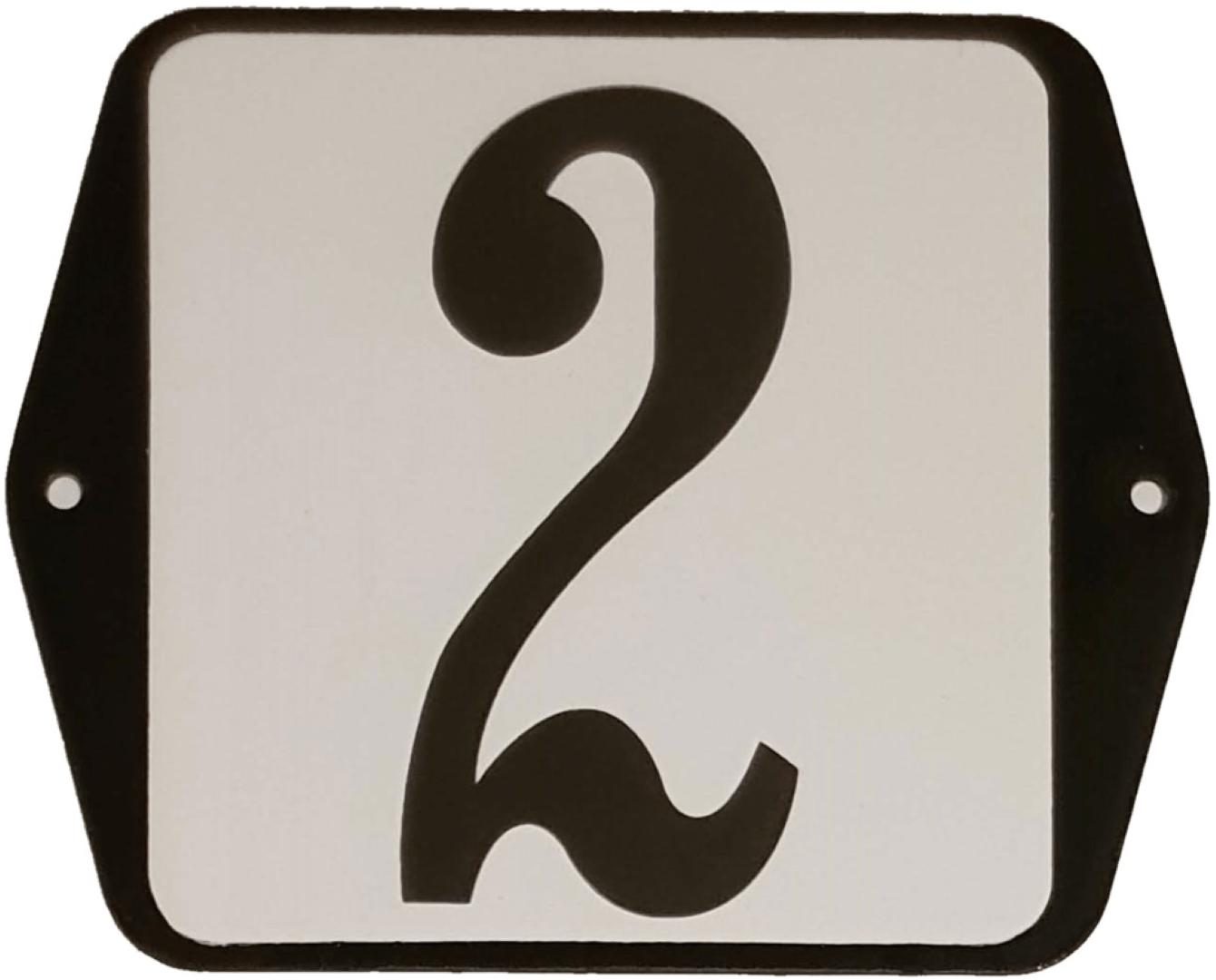 Huisnummer standaard nummer 2