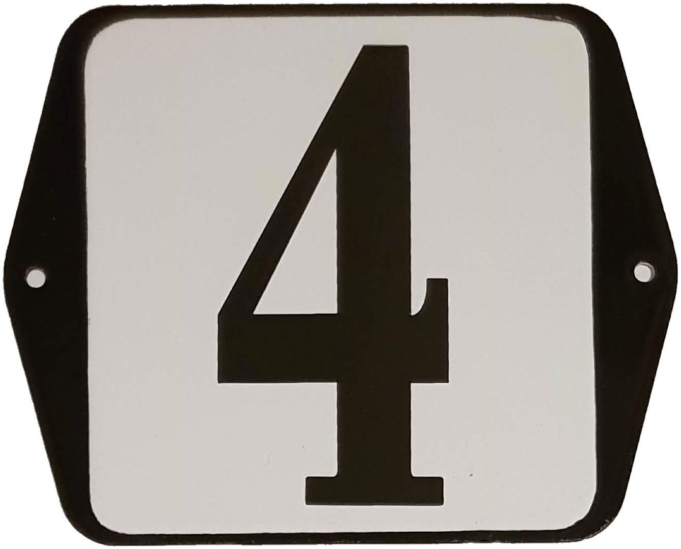 Huisnummer standaard nummer 4