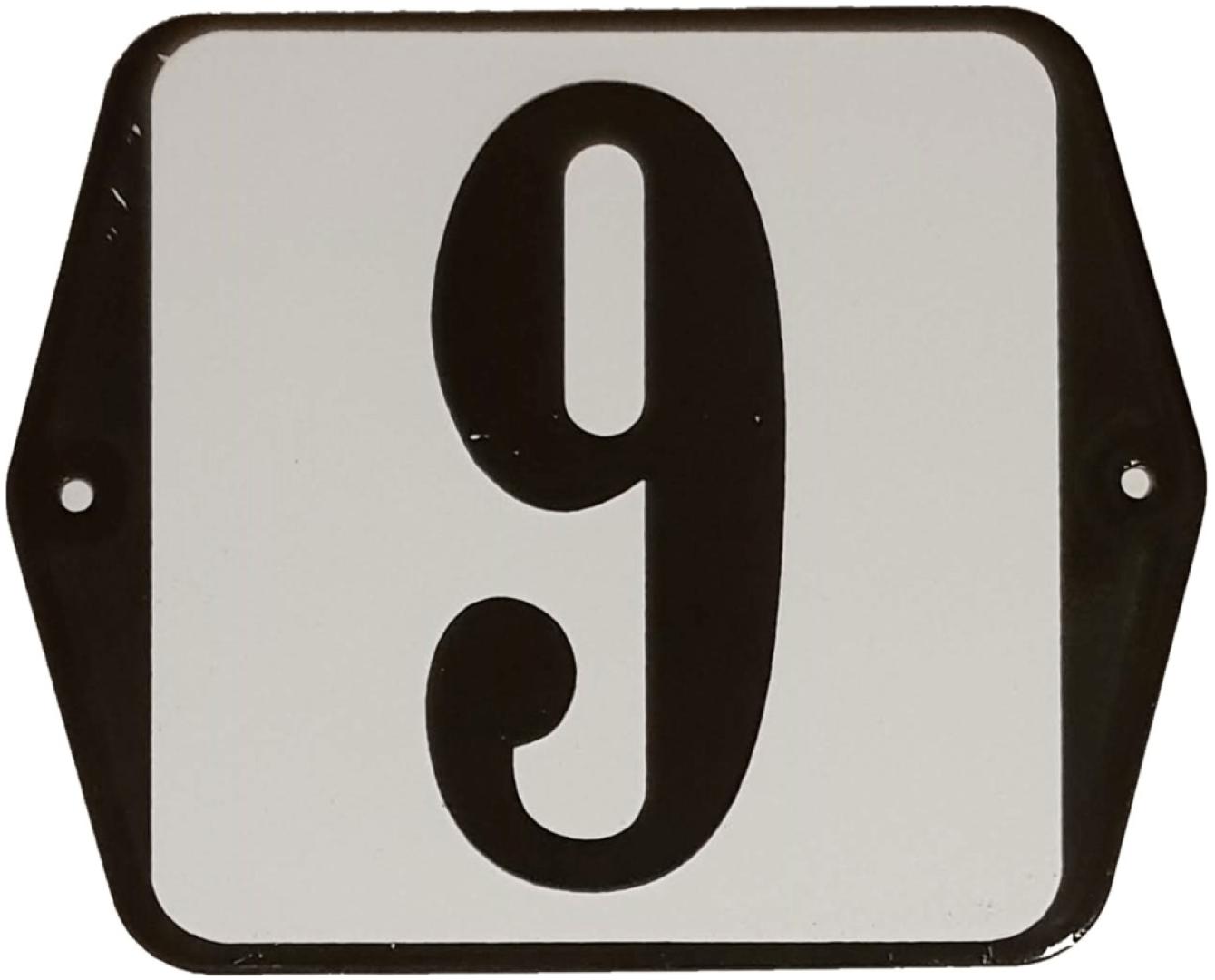 Huisnummer standaard nummer 9
