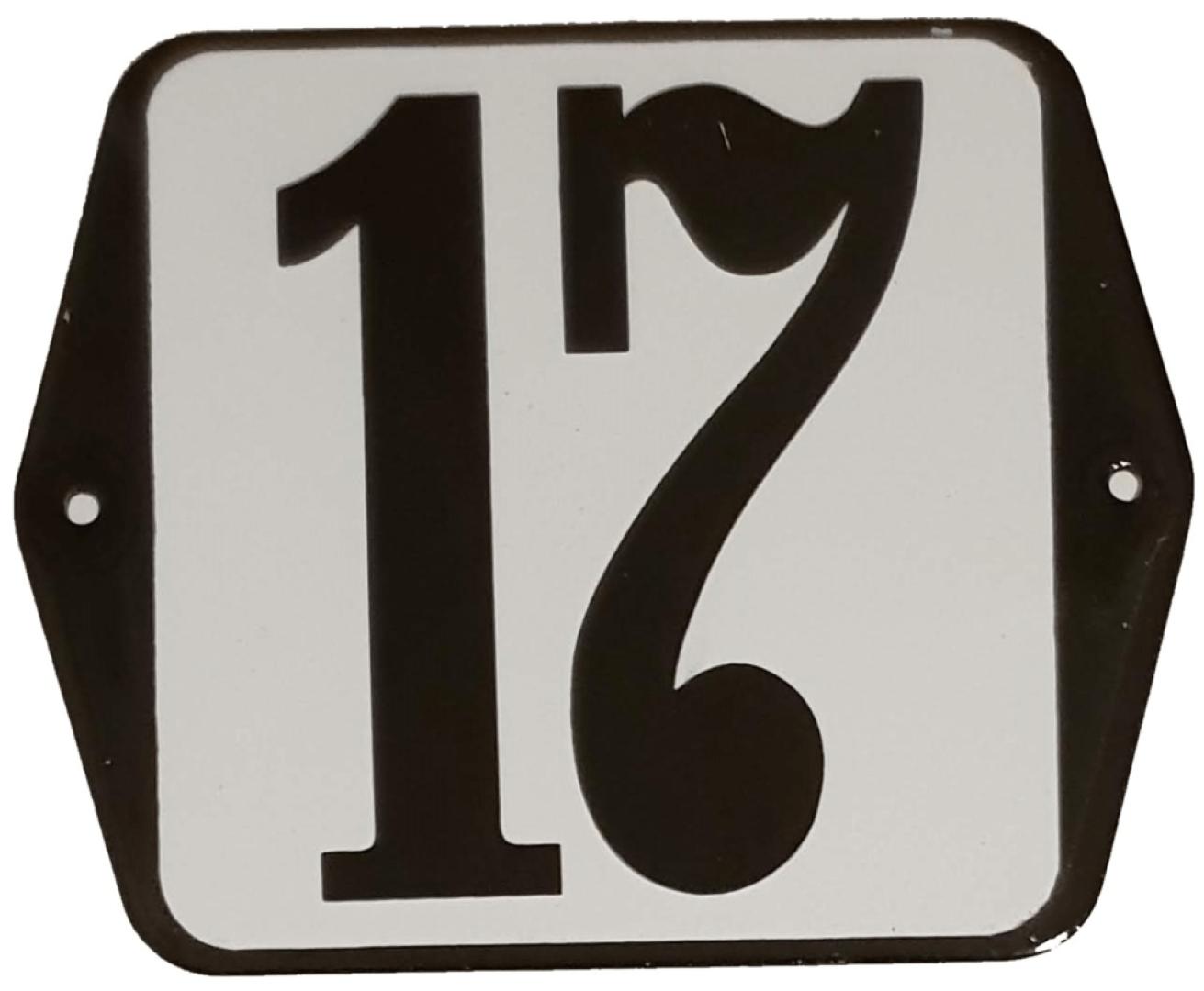 Huisnummer standaard nummer 17