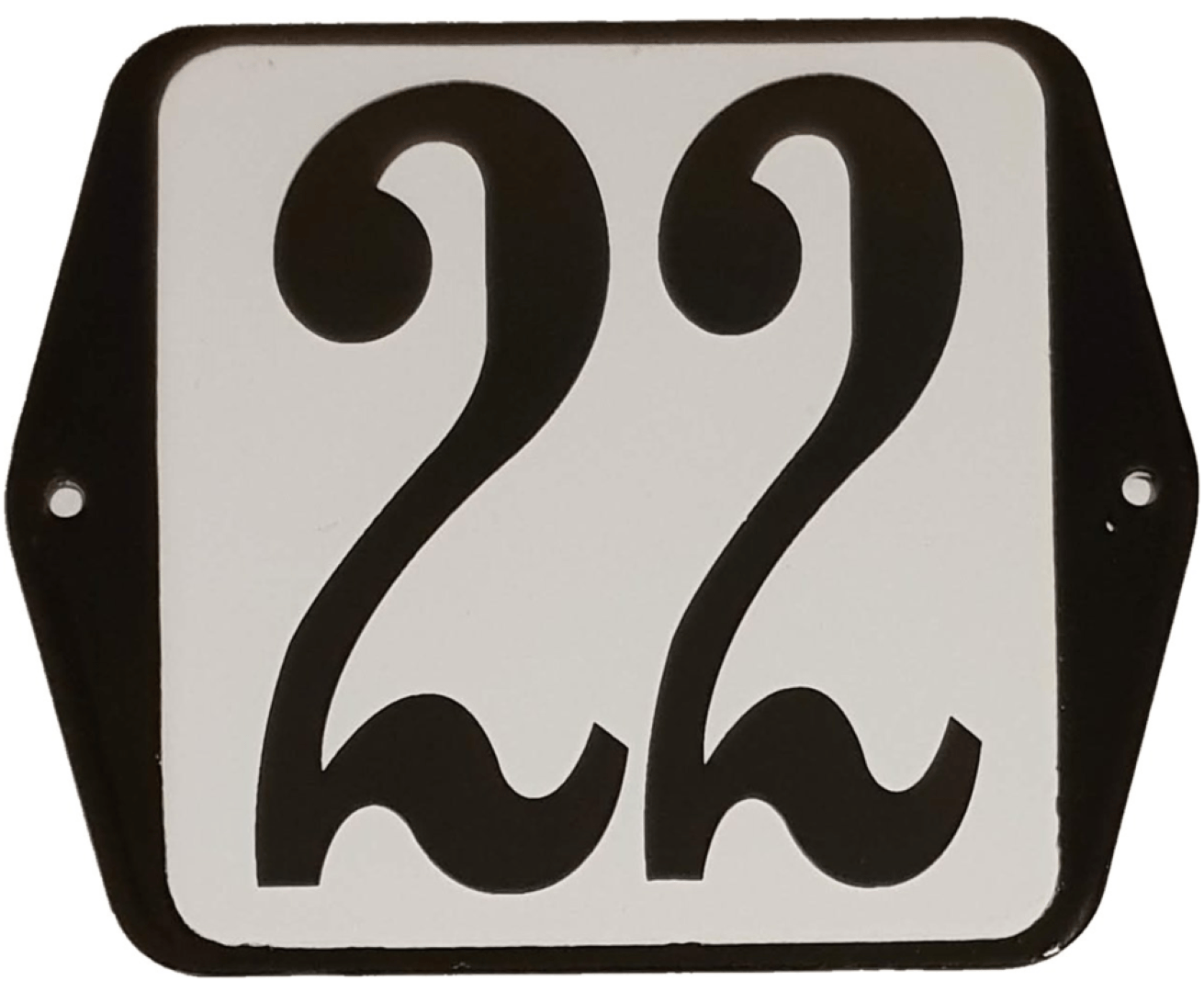 Huisnummer standaard nummer 22