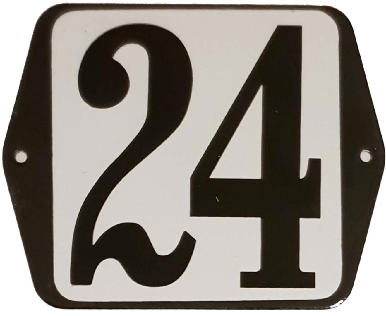 Huisnummer standaard nummer 24