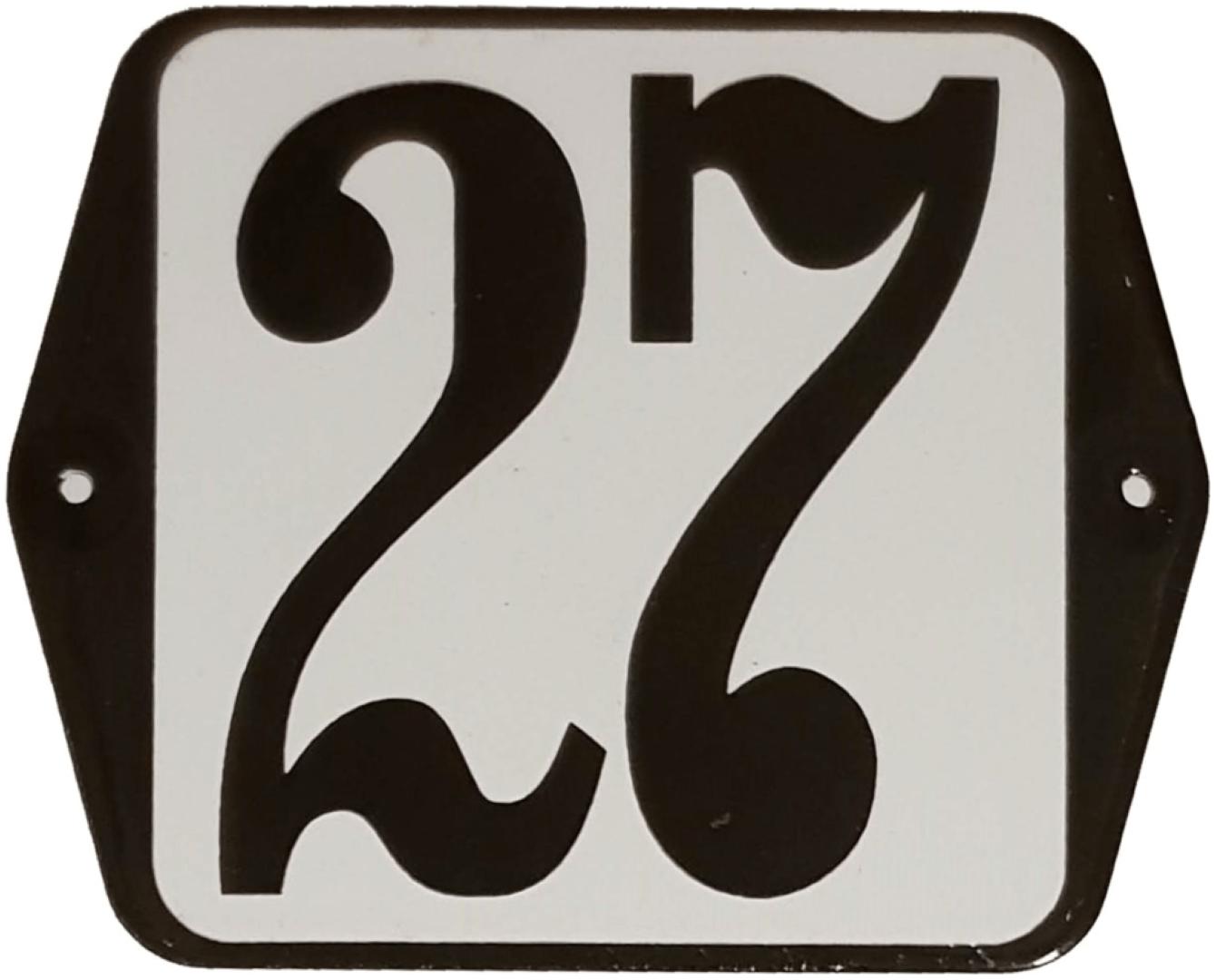 Huisnummer standaard nummer 27