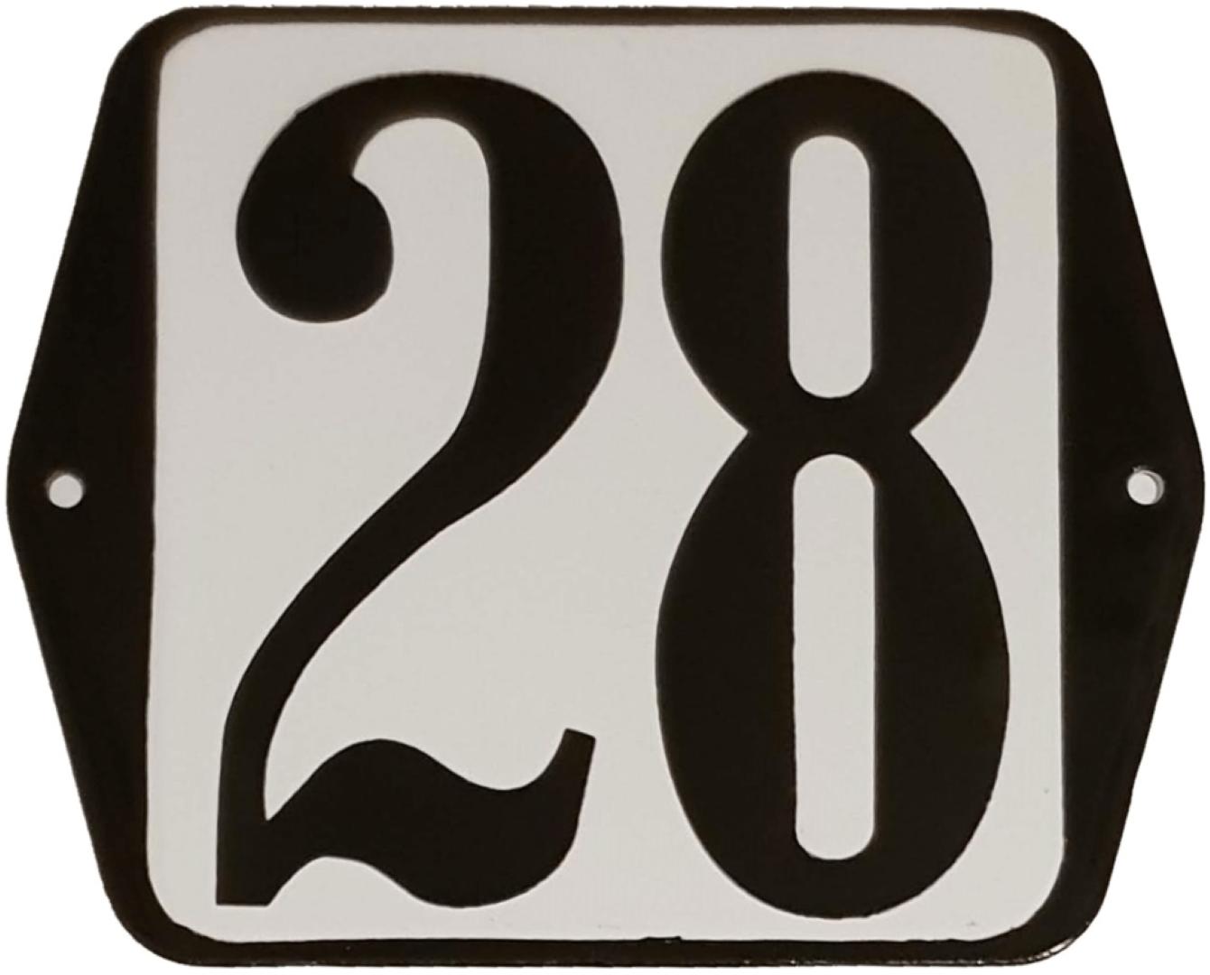 Huisnummer standaard nummer 28